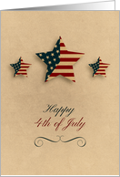 Fourth of July, Patriotic Stars card