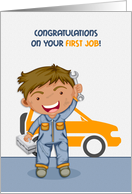 Congratulations, First Job, Automotive card