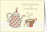 Tea Time Birthday for Friend card