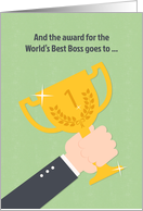 World's Best Boss, Hand with Winner's Cup card