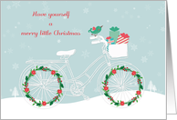 Bicycle Decorated for Christmas card