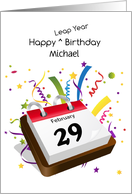 February 29th Leap Year Birthday Calendar Personalize Card