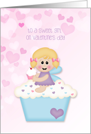 Cupcake Angel, Valentine's Day for Sweet Girl card