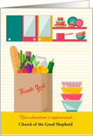 Thank You for Grocery Donation to Church Pantry, Customize card