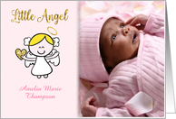 Little Girl Angel Customized Baby Photo Announcement card