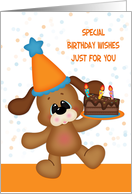 Birthday Dog with Cake card