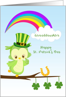 Granddaughter St. Patrick's Day Owl card