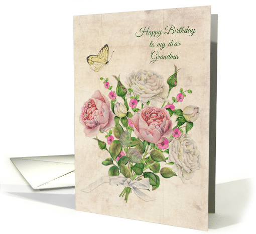 Grandma Birthday Vintage Roses card (1467312)