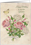 Grandma Birthday Vintage Roses card