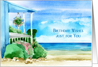 Seascape Birthday Wishes card