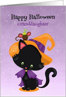 Halloween Kitty with Witch Costume for Granddaughter card
