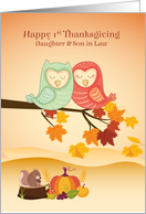 Daughter & Son in Law - 1st Thanksgiving as Newlyweds card