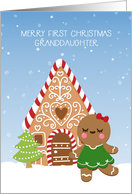 Granddaughter's First Christmas - Gingerbread Girl card