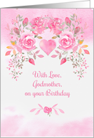 Godmother Birthday Wishes Pink Roses card