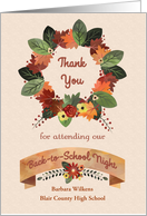 Customize Thank You Back to School Night card
