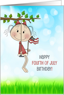 For Girl Fourth of July Birthday card