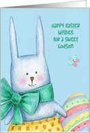 For Godson Easter Bunny with Decorated Egg card