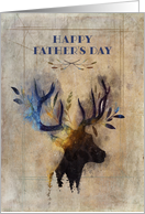 Father's Day Rustic Watercolor Deer card