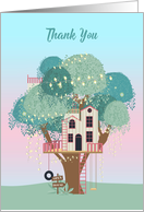 Open House Thank You Whimsical Tree House card