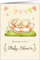 Baby Shower Invitation with Sleeping Bunny card