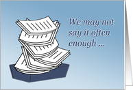Inbox Overflow Administrative Professionals Day. card