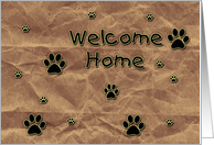 Welcome Home From Pet card
