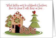 Christmas Reunion Gingerbread card