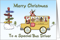 Christmas School Bus Driver card