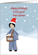 Happy Holidays From Mail Carrier Female card
