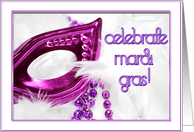Mardi Gras Purple Mask card