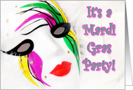 Mardi Gras Party Mask card