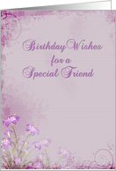 Birthday Friend Lavender Flowers card