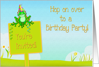 Kids Frog Birthday Party Invite card