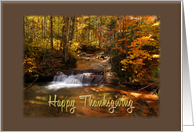 Thanksgiving Woodland Waterfall card