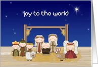 Whimsical Nativity Scene, Christmas Greeting card