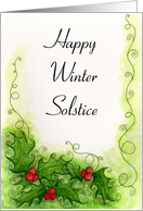 Winter Solstice - Holly Card