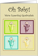Expecting Quadruplets Card