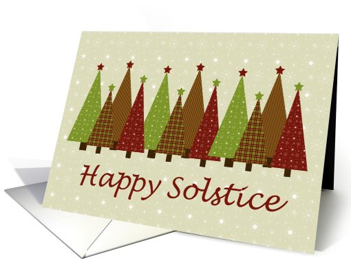 Calico Solstice Trees card (527422)