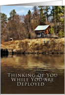 Thinking of You, Deployed, Cabin by Lake card