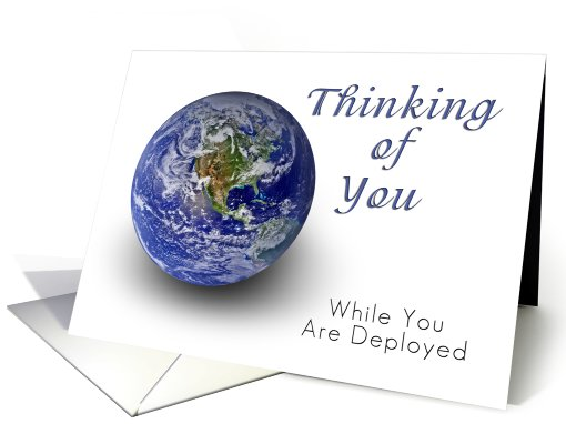 Thinking of You While You Are Deployed, World card (616074)