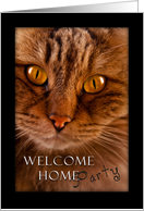Welcome Home Party, cat card