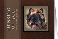 Thinking of You While I Am Deployed, Brown Dog on Brown Background card