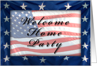 Welcome Home Party, American Flag card