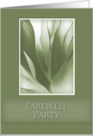 Farewell Party Invitation, Green Abstract on Green Background card