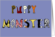 Puppy Monster Congratulations on Your New Puppy Card
