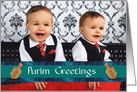 Purim photo cards Happy Purim with dreidel card