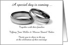 Wedding Invitation with wedding rings custom text card
