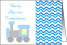 Baby Shower Invitation with toy train card