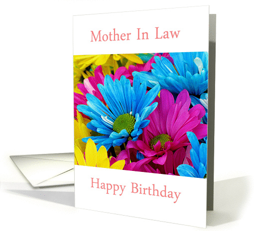 Happy Birthday Mother In Law with bouquet of flowers card (1102920)