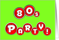 80s party theme invitations from greeting card universe
